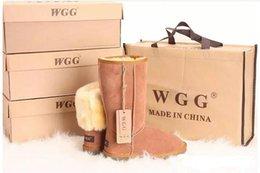 Toptan satış 2019 Ücretsiz kargo Sıcak Avustralya klasik WGG kadın Klasik uzun Çizmeler Bayan çizmeler Çizme Kar botları Kış çizme deri çizme ABD BOYUTU 5 --- 14