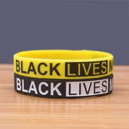 Free shipping Fashion lychee Black Lives Matter Silicone Wrist Band Bracelet Cuff Wristband Rubber Bracelet Unisex Jewelry on Sale