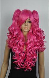 $enCountryForm.capitalKeyWord Australia - WIG shipping New Women's Long ladies pink Curly Natural Hair full wigs wig