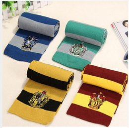 $enCountryForm.capitalKeyWord Australia - Harry Potter Scarf Gryffindor Unisex Knitted Striped Scarf Gryffindor Scarve Harry Potter Hufflepuff Scarf Kids Scarves MMA2335