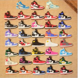 $enCountryForm.capitalKeyWord Canada - PVC Famous Basketball Shoes Keychain Rubber Car Bag Buckles Silicone Shoes Keyrings Fashion Accessories For Gifts Raptors Fans