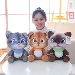 tv cartoon cat Australia - 12cm   20cm Mini Cute Plush Cat Toys Stuffed Plush Animals Cartoon Cat Doll Toys Kids Toys Girls Gifts