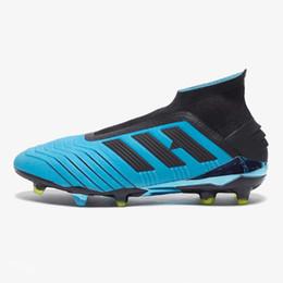 $enCountryForm.capitalKeyWord Australia - 2019 Cheap Mens kids Football Boots Predator 19+ Hard Wired FG Soccer Cleats Laceless Green Blue Red chaussures de football size 35-45