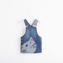 Girls' Baby Clothing 0-5 Years Girl Summer Blue Overalls Skirt Cute Rabbit Suspender Skirts Lovely Baby Girl Clothes Refreshment