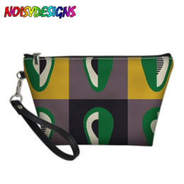 Cute Cosmetic Bags Cases Australia - NOISYDESIGNS Makeup Bag in Cosmetic Bags & Case Fruit Avocado Make Up Cases Femininas Girls Cute Handbag Outdoor Bolsos Mujer