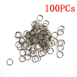 wholesale pet tags NZ - 100pcs 8mm 10mm 15mm Key Tags Rings White Plated Steel Round Split Ring for Pet Id Tags Pet Dog Cats Collar Accessories