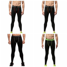 Running Stretch Tight Australia - Men gym running tights breathable stretch quick dry compression yoga long pants basketball football fitness sports leggings