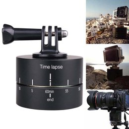 Wholesale 360 Degree Time lapse Auto Rotate Camera Tripod Head Base Rotating Timelapse for Gopro Camera SLR For iphone