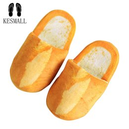 $enCountryForm.capitalKeyWord Australia - wholesale Women Winter 3D Bread Lovers Adult Slippers Indoor Floor Home Shoes Bedroom Warm Soft Slippers Unisex Funny Gift