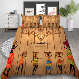 $enCountryForm.capitalKeyWord Australia - 3D Printed Bedding Set Tribal Style Dancing Classic King 3D Duvet Cover Queen Retro Home Deco Double Single Bed Cover with Pillowcase