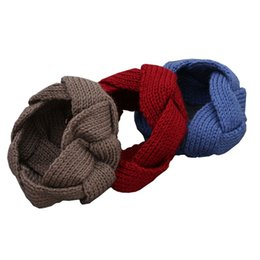 Chinese  1pc 2018 Autumn Winter Crochet Twist Knitted Headwrap Hair Band for Women Girls Hiar Accessories Makeup headband 9 colors manufacturers