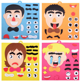 Children's Expression Puzzle Non-woven Material Package Toy Stickers Facial Features Expressions Teaching Aids from box circus suppliers