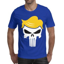 Best Men Hair Australia - Trump punisher hair shaped Mens Tees Tops Designed Fitness Cotton Round Neck Shirts Best Man T Shirt Vintage T Shirts for Man