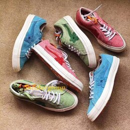 canvas one shoes NZ - Canvas Mens Woemn Designer Shoes One Star Ox Tyler the Creator Golf Le Fleur Jade Lime Green Skater Sneakers Casual shoes 4fs
