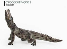 soft toys wild animals NZ - Soft glue animal simulation wild animal model toy multi-model crocodile animal model simulation crocodile