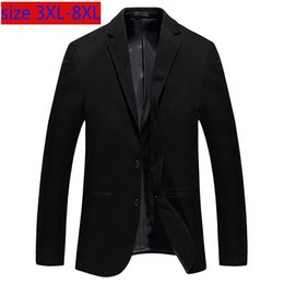 mens jacket 7xl 2019 - New Fashion High Quality Super Large Men Loose Single Breasted Casual Mens Suit Jacket Blazers Plsu Size 3XL 4XL 5XL 6XL