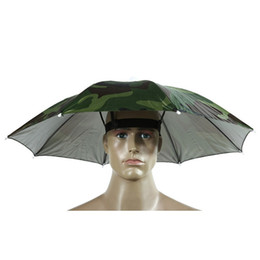 $enCountryForm.capitalKeyWord Australia - Foldable Rain Gear Fishing Hat Headwear Umbrella for Fishing Hiking Beach Cap Head Hat Camping Fish Tackle Pesca Iscas Tool