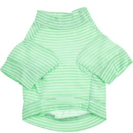 $enCountryForm.capitalKeyWord UK - Cotton Pet Dog Shirt Spring Summer Dog t shirt Small Dog Clothes Puppy Shirts Drop Shirt Stripes Cool Clothing For Chihuahua Teddy 4 Colors