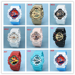 Bayanlar casio Spor İzle LED Çift Ekran Çok fonksiyonlu İzle Running Chronograph G-Shock saatler Erkek Spor Stil Saatler Öğrenci Açık