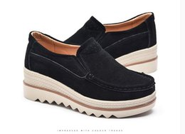 $enCountryForm.capitalKeyWord Canada - New Spring Autumn Moccasin Women's Flats Suede Genuine leather Shoes Lady Loafers Slip On Platform Woman Moccasins