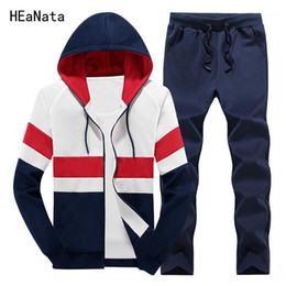 mens yellow tracksuit NZ - Tracksuit Mens Hoody Clothing Sportswear Patchwork Sweat Homme Casual Men Tracksuits Sets Two Pieces Sporting Jacket and Pants1