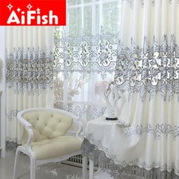 Luxury Window Cottons Australia - Europe Soluble Embroidered Home Windows Kitche Drapes Panel Luxury Curtains For Living Room Bedroom Shaing Cloth Decor AP147-20