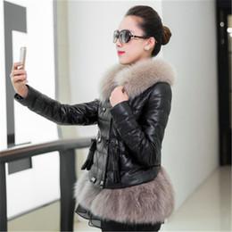 $enCountryForm.capitalKeyWord NZ - New fashion sheep skin fox fur collar leather leather jacket female Thicken coats short high quality jacket G941