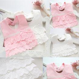 $enCountryForm.capitalKeyWord Australia - Princess Toddler Infant Cotton Lace Bibs Burp Cloths Kids Newborn Baby Cotton Feeding Towel Bibs Wrap Triangle Dribble Bandana