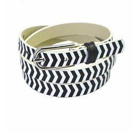82e6109c2 Metal Pin Buckle Belt Fashion Pattern Thin Belt Ladies Dress Decorative Belts  Women Faux Leather Straps Waistband LJJS273