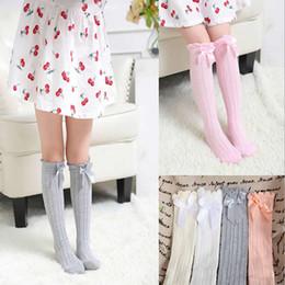 $enCountryForm.capitalKeyWord UK - Soft Cotton Kawaii Girls Boys Sock Bow Princess Kids Girl Newborn Toddler Baby Long Socks New Girls Tube Socks Child