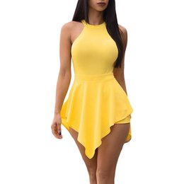 8fba153b11 Womens Bodysuit Romper UK - Casual Rompers Womens Jumpsuit 2019 New Sexy  Lady Backless Halter Sleeveless