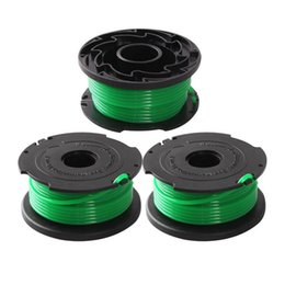 string spools UK - 3Pcs Replacement Nylon Grass String Trimmer Line Spool for Black Decker SF-080 hot sale