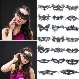 $enCountryForm.capitalKeyWord UK - Sexy Makeup dance Mask Hot-selling Lace blindfold Halloween party women half masks Party Fashion Mask T9I0051