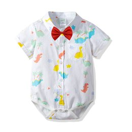 e0f8c4973bc2 Cotton baby boy clothes Summer shirt baby romper dinosaur boys Rompers Baby  Infant Boy Designer Clothes Newborn Jumpsuit Infant Romper A3023