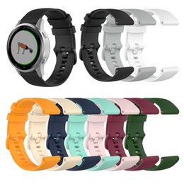 18mm watch bracelet UK - Silicone Replacement Straps TPE Band For Garmin Vivoactive 4 4S 3 3S 18MM 20MM 22MM Watch Classic Bracelet Wrist Strap Band