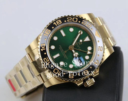Real watches online shopping - Luxury GM Factory Mechanical Watch Mens Automatic Cal Movement Men L Steel Real Wrapped k Gold Never Fade Gmt II LN Watches