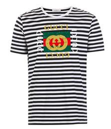 Sh Fashion Australia - 2019 G Italian designer designed men's T-shirt high quality sports fashion striped men's top tee men's T-shirt fashion short sleeves free sh