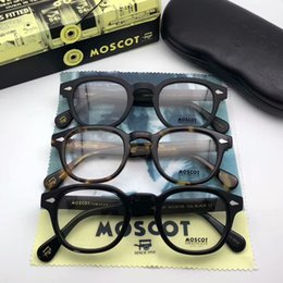 c38b158f53 TOP Quality matte black MOSCQT lemtosh glasses unisex Depp imported plank  prescription glasses frame 46-24-145 full-set case OEM Outlet