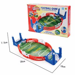 football games for kids Canada - Mini Football Board Match Game Kit Tabletop Soccer Toys For Kids Educational Sport Outdoor Portable Table Games Play Ball Toys