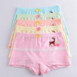$enCountryForm.capitalKeyWord NZ - 2019 new free shipping high quality girls boxer shorts panties kids deer children underwear 2-9year old 4pcs lot