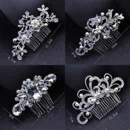 pearl bride UK - Pearl Bridal Wedding Tiaras Classic Crystal Bridal Jewelry Bride Hair Combs Cute Lady Party Hair Accessories LJJ-TLJJ-TTA968