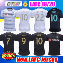 80e3010f5 New Arrived 2019 LAFC Carlos Vela Soccer Jerseys 18 19 20 Home X ZELAYA  ROSSI Los Angeles FC Black Parley Primary WHITE Football Shirts