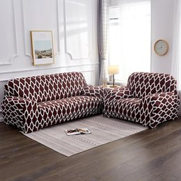Red Living Room Furniture Australia - Red Coffee Yellow Sofa Cover Stretch Furniture Covers Elastic Sofa Covers For living Room Copridivano Slipcovers for couch cover