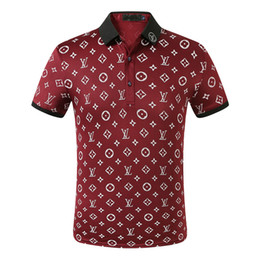 Wholesale mens cotton solid t shirts summer online – design 2020 Summer Brand Clothes Luxury Designer Polo Shirts Men Casual Polo Fashion Snake Bee Print Embroidery T Shirt High Street Mens Polos