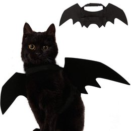 halloween costume wings NZ - Cat Costume Halloween Pet Bat Wings Cat Dog Costume