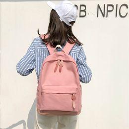 69da8ea61b52 2019 Women Backpack For School Teenagers Girls Vintage Stylish School Bag  Ladies Canvas Fabric Backpack Female Bookbag Mochila