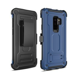 Iphone Case Clip Combo Australia - In Stock For Iphone 6S 6 7 8 Plus X XS MAX XR Combo Belt Clip With Kickstand Holster Shock Absorption Protective Phone Cover Case