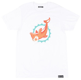 Dolphin suits online shopping - Pink Dolphin Upside Down Logo Short Sleeve T Shirt mens pride dark t shirt white black grey red trousers tshirt suit hat pink t shirt