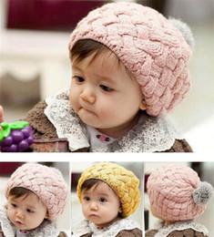 Beret Hat Kids Australia - Fashion Children Knitted Berets Spring Berets Autumn Kids Wool Beret Hats Baby Girl Hat Caps Retro Caps Fashion Fur Beanie