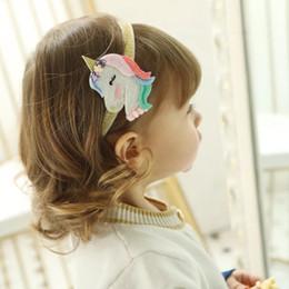 Fiber Fox Australia - Free DHL Shipping Unicorn Girls Hair Clips Fox Hairclips kids designer Rainbow Hair Accessories Sequin Unicorn Barrettes Baby Hair Sticks